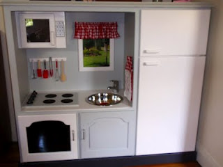 Make a Play Kitchen from an Entertainment Center | Parents of Color ...