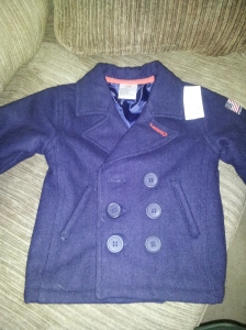 The tag says $4 so I got this cute peacoat for two bucks!