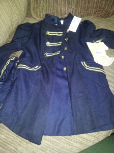 This is a dress, coat and hat that I got today for $4.