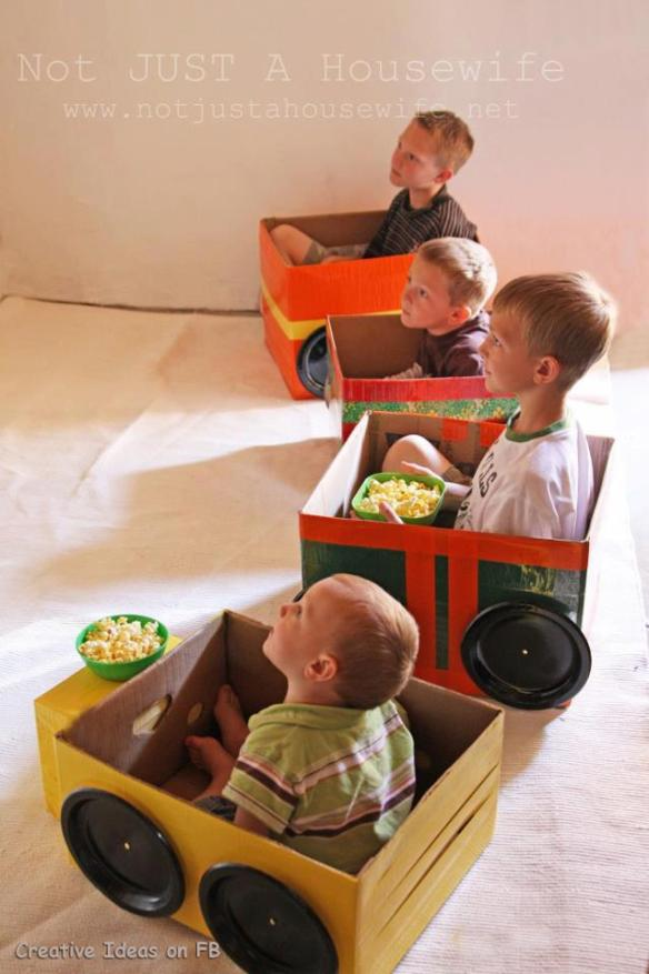 Homemade drive-in theatre. Cool, huh?!
