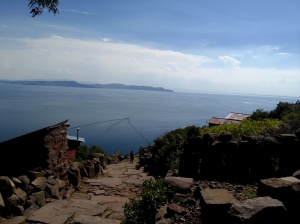 The view from the 3 hour hike on Taquilles Island on Lake Titicaca.