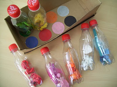 This one is SUPER cool! You can use it for matching, putting in and out of the box as well as what's in the bottles. I'm totally doing this one!