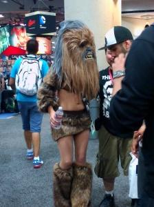 Half-naked Chewbacca.