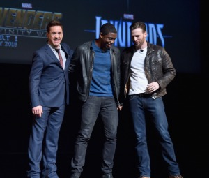 Iron Man, Black Panther and Captain America.