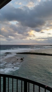 Our view from our room at Turtle Bay Resort in Oahu, Hi.