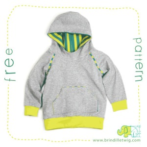 Traditional style hoodie for kids.