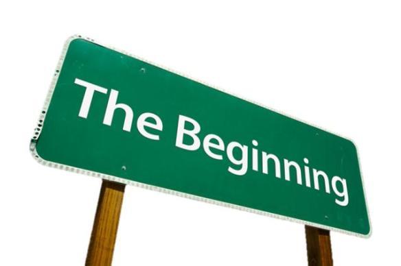 Beginning-road-sign