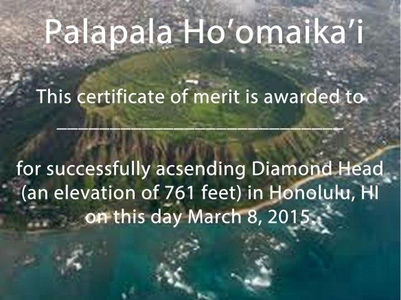 diamond-head-certificate