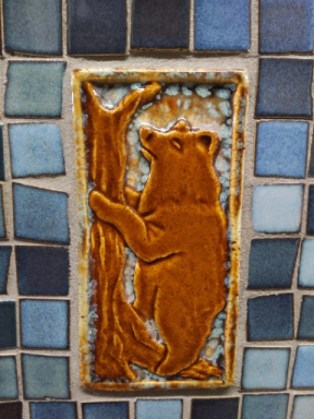 2018 Yellowstone Visitors Center bathroom tile