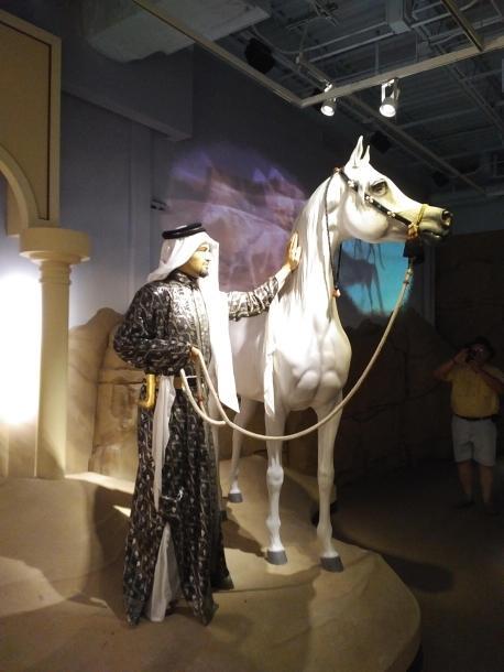2018 KY Lexington Kentucky Horse Park Museum of the Horse Arabian horse exhibit life size models