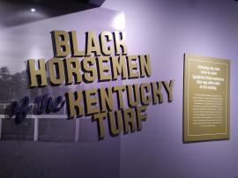 2018 KY Lexington Kentucky Horse Park Museum of the Horse Black horsemen exhibit