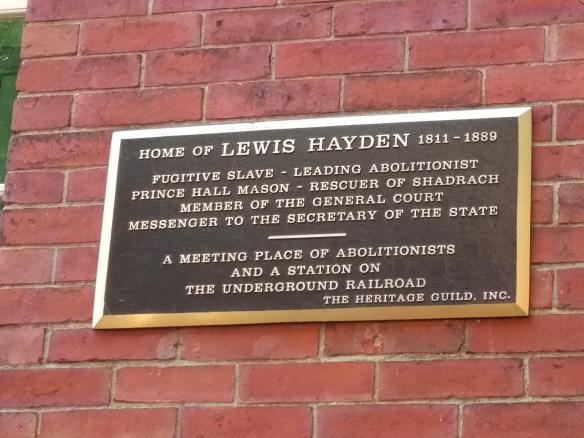 2018 MA Boston AA History Trail - Hayden House plaque