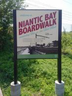 2018 Niantic CT boardwalk sign