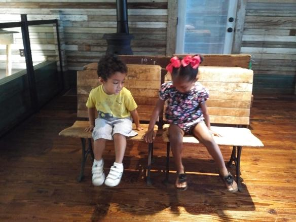 2018 TN Brownsville Delta Heritage Center - Tina Turner Museum schoolhouse benches kids
