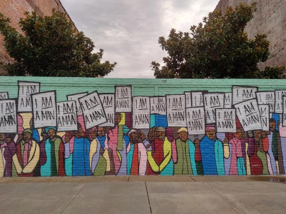 2018 TN Memphis mural I am a man