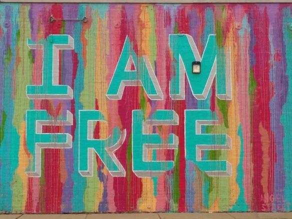 2018 TN Memphis mural I AM FREE